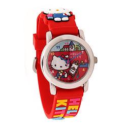 Hello Kitty børneur i rød